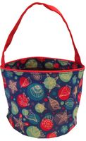 Clearance Priced - Patterned Bucket Tote - Nautical