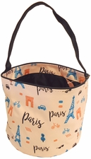 Patterned Bucket Tote - Paris