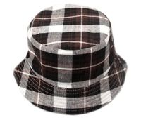 Plaid Childrens' Bucket Hat - Black/Brown
