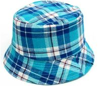 Plaid Childrens' Bucket Hat - Blues