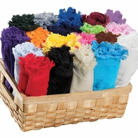 Premium Terry Velour Fringed Finger Tip Towels - 11x18