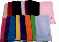 Premium Terry Velour Fringed Finger Tip Towels - GROMMETED 11x18