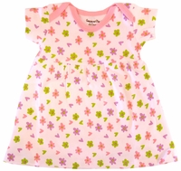 Clearance Priced - Printed Baby Dress - Pink Floral