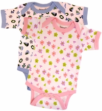 Clearance Priced - Printed Onesies 0-6 mo.