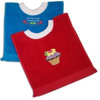 Pullover Fringed Terry Velour Baby Bibs