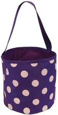Purple & White Polka Dot Bucket Tote
