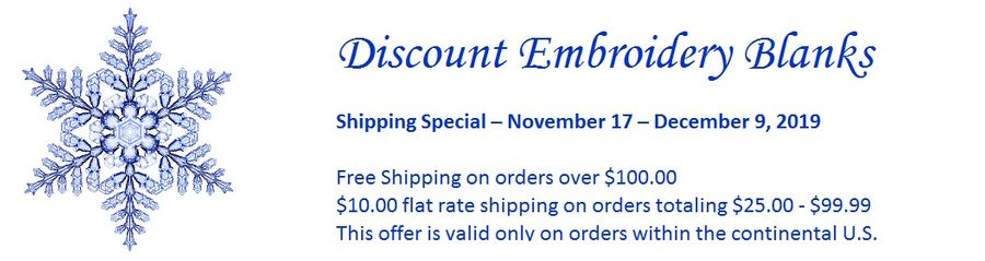 Discount Embroidery Blanks