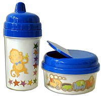 Scrapbook 10 oz. Baby Cup and 12 oz. Snack Holder Combo