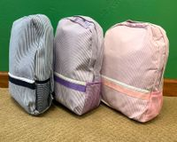 Seersucker Backpacks