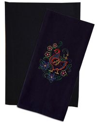 Solid Plain Weave Kitchen Towels - BLACK