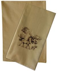 Solid Plain Weave Kitchen Towels - WHEAT