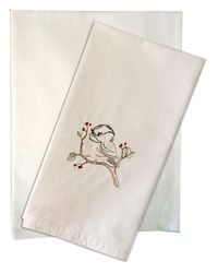 Solid Plain Weave Kitchen Towels - WHITE