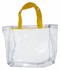 Clear Vinyl Stadium Tote Bag - Athletic Gold