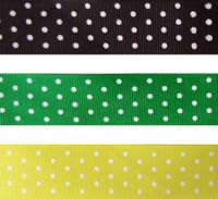 "7/8"" Swiss Dot Grosgrain Ribbon - by the yard"