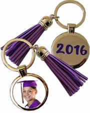 Clearance Priced - Tassle key rings with monogram tag