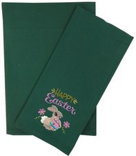 Clearance Priced - Solid Plain Weave Kitchen/Tea Towel - GREEN