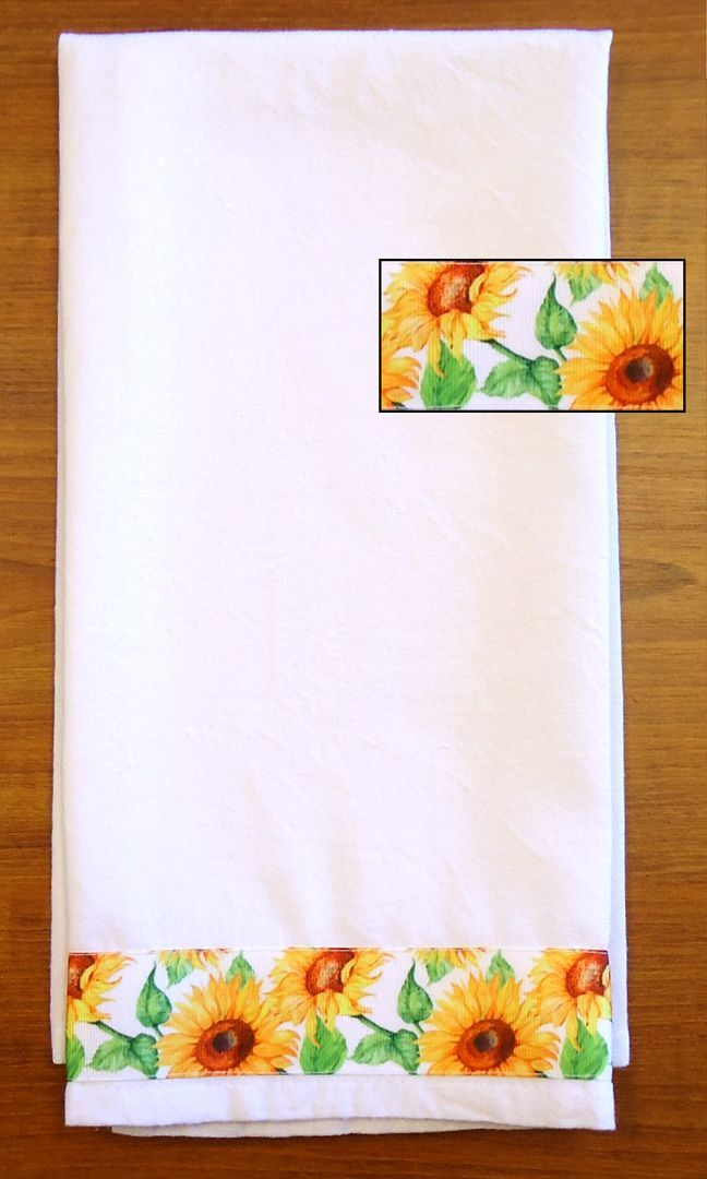 Decorative Kitchen Towel Sunflowers
