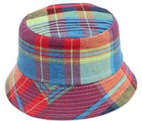 Plaid Childrens' Bucket Hat - Multi
