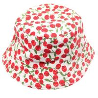 Patterned Childrens' Bucket Hat - Cherries