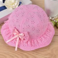 Lace Fashion Sun Hat - Hot Pink