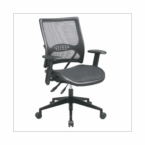 Office Star   SPACE Collection: Dual Function Air Grid Back And Seat  Managers Chair With Adjustable Arms