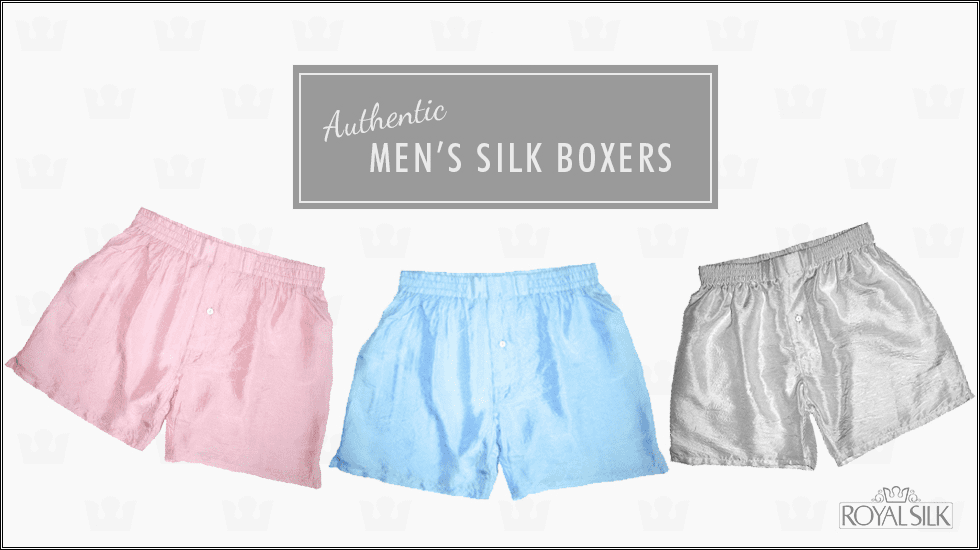3 SOLID SILK BOXERS - PICK YOUR COLORS