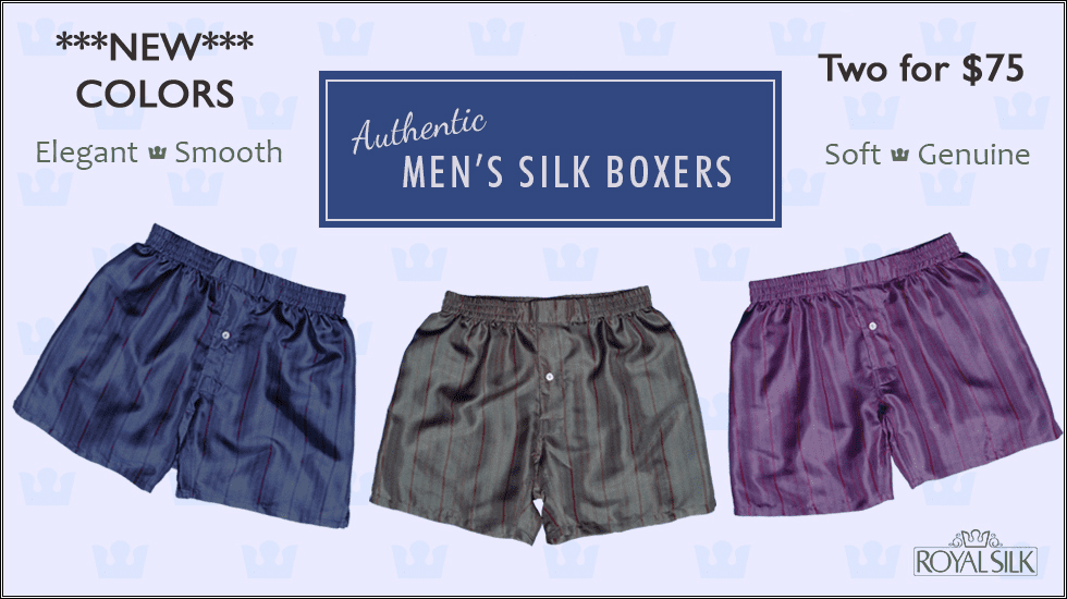 ANY TWO SMOOTH STRIPES SILK BOXERS