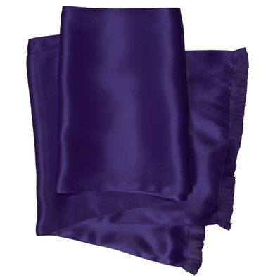 Aubergine Long Silk Aviator Scarf