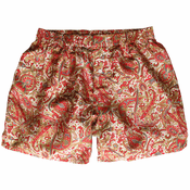 Beige Paisley Mulberry Silk Boxers