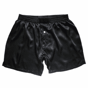 Black Pearl Satin Silk Boxers