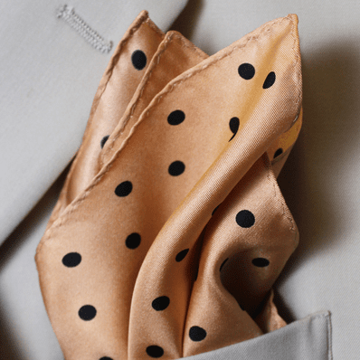 Gold Polka Dot Twill