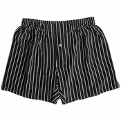 Black Satin Stripes Silk Boxers