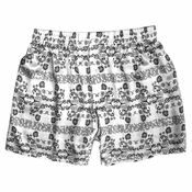 Black White Arabesque Silk Boxers