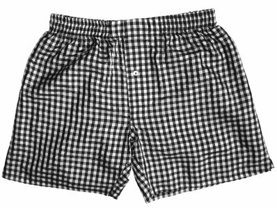 Black White Checks Silk Boxers