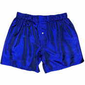 Blue Black Pinstripes Silk Boxers