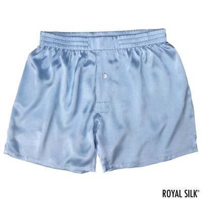 Blue Diamond Satin Silk Boxers