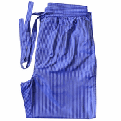 Blue Pinstripes - Men's Silk Pajama Pants