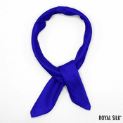 Blue Purple Silk Bandana