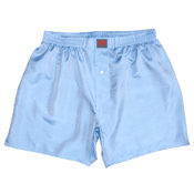 Blue Topaz Mulberry Silk Boxers