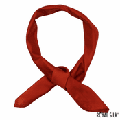 Brick Red Silk Bandana