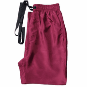 Burgundy - Men's Silk Pajama Pants
