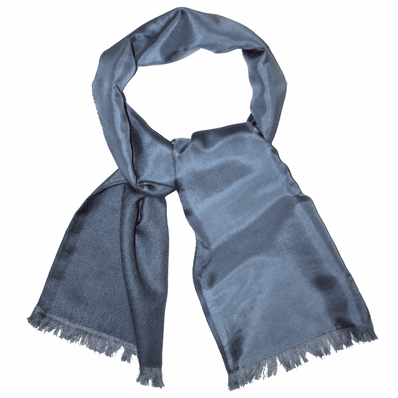 Grey Cashmere Neck Scarf