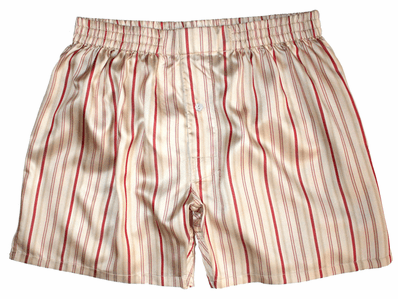 Golden Champagne Stripes Silk Boxers