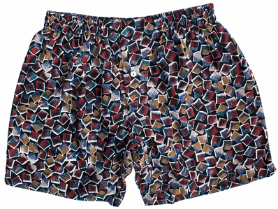 Black Color Tiles Silk Boxers