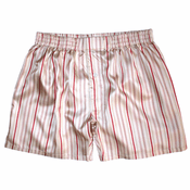 Cream Vanila Stripes Silk Boxers