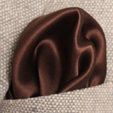 Dark Brown Satin Silk