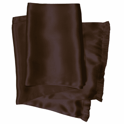 Dark Brown Silk Aviator Scarf