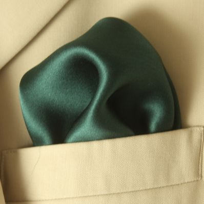 Dark Green Satin Silk
