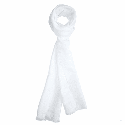 White Dashing Aviator Scarf