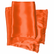 Dutch Orange Long Silk Aviator Scarf